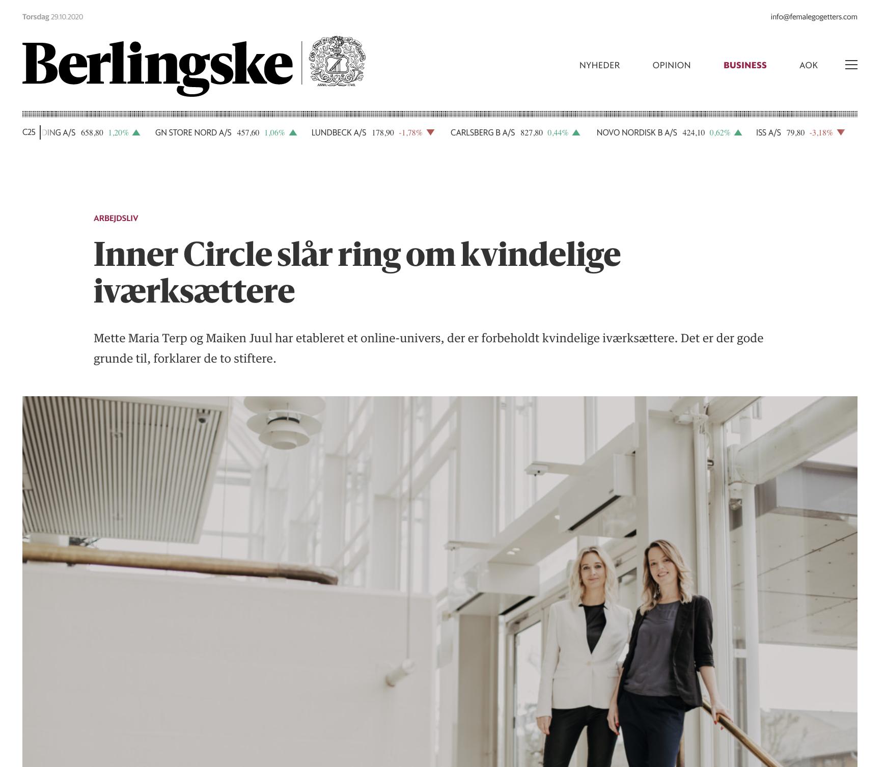Female Go-Getters Danmarks største netværk for kvindelige iværksættere ved Mette Maria Terp og Maiken Juul
