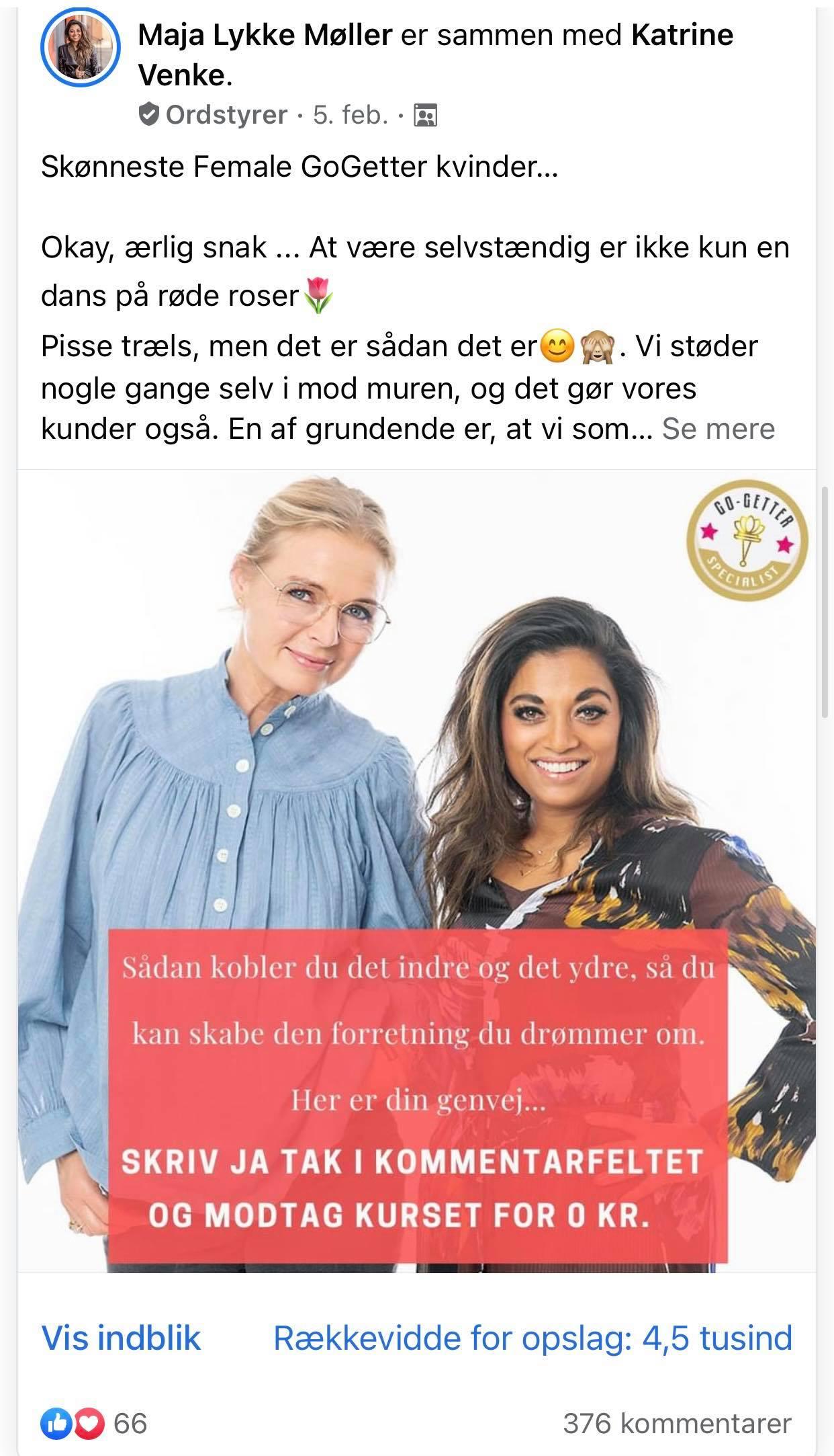 Maja Lykke Møller og Katrine Venke